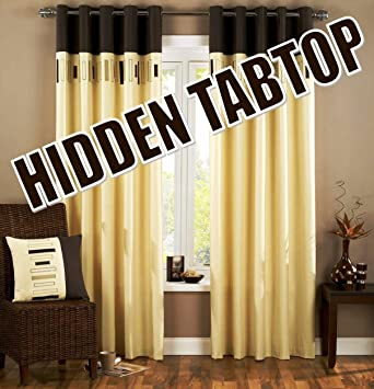 Curtains Ideas chocolate brown tab top curtains : Hidden Tab Top Curtains, 46