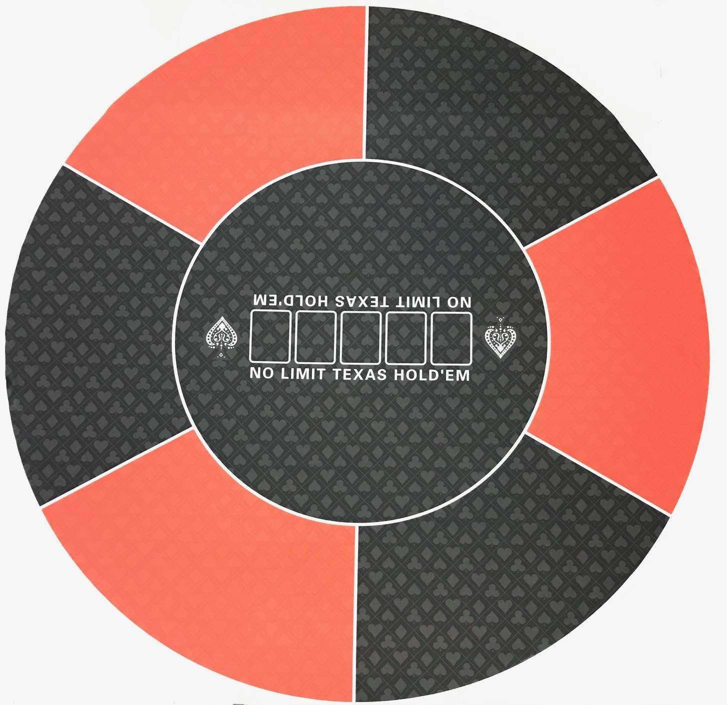 Tapete de Poker Redondo Rojo: Amazon.es: Juguetes y juegos