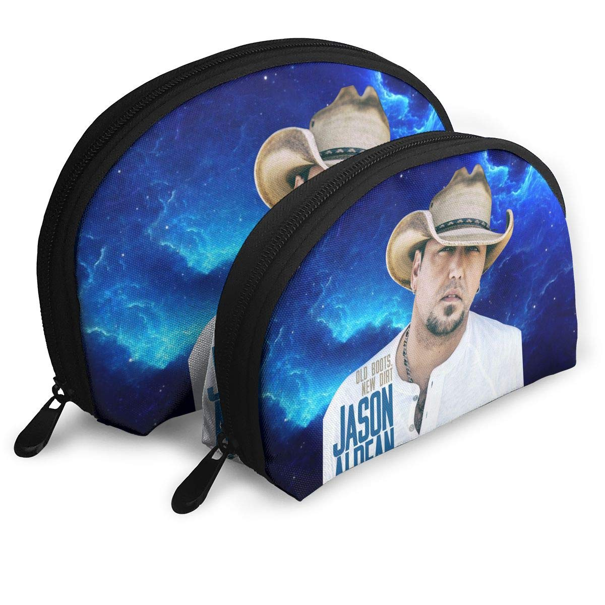 Amazon.com: JENNASTOLZZ Unisex Jason Aldean Old Boots New Dirt Durable Music Band Travel Cosmetic Storage Assorted Portable Bags Clutch Pouch Gift 2Pcs for ...