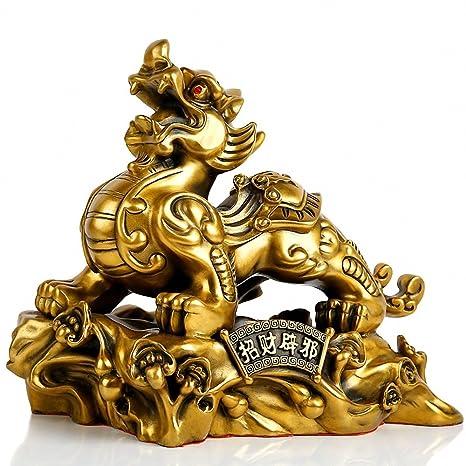 Amazon.com: Tamaño grande Feng Shui latón Pi Yao/PI Xiu ...