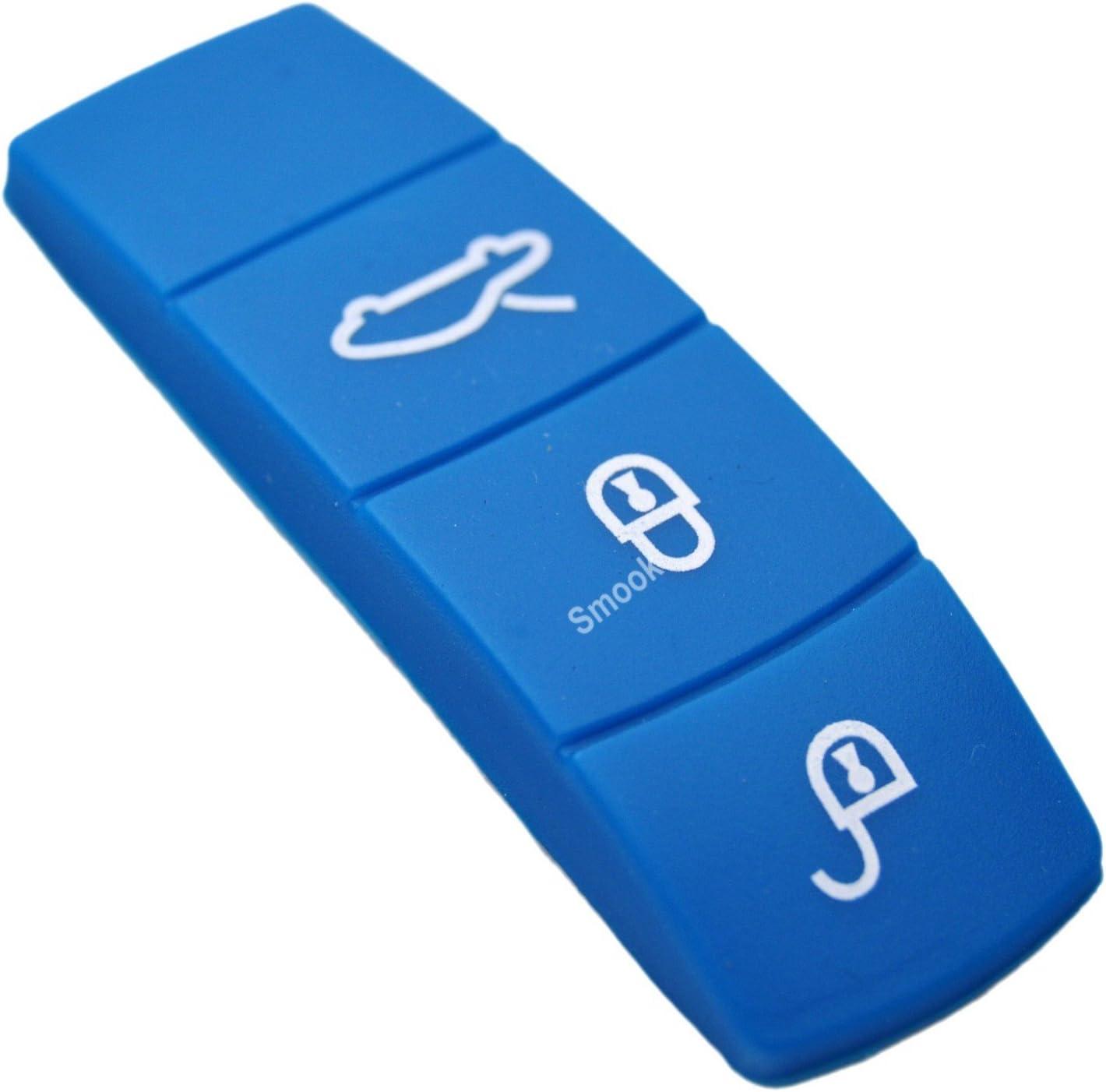 キーカラーゴムボタンパッドforポルシェ911 918 Panamera Macan CayenneケイマンBoxster ブルー 311631011333