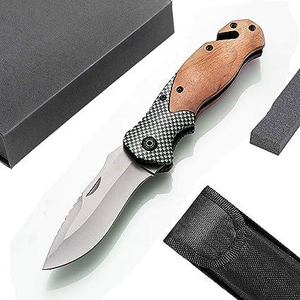 Amazon.com: Unilove - Navaja de bolsillo plegable, cuchillo ...