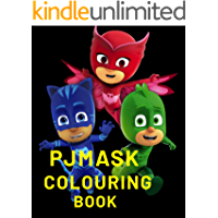 PJ masks colouring book (English Edition)