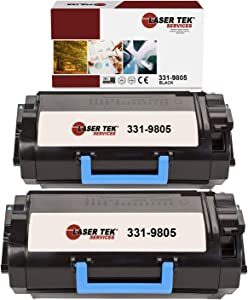 Laser Tek Services Compatible 331-9805 Toner Cartridge Replacement for Dell B2360 B3460 B3465 Printers (Black, 2 Pack) - 8,500 Pages