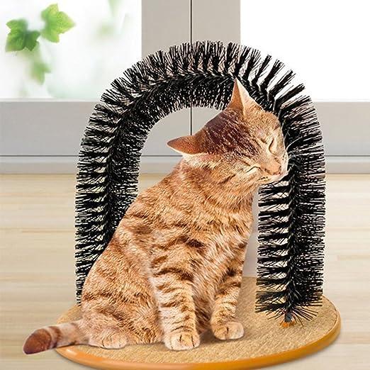 Bbl345dLloRemovedor de Pelo Reutilizable para Mascotas, Arco Creativo para Gatos, Gatitos, cerdas, masajeador, rascador, Juguete de Juego para Mascotas: Amazon.es: Productos para mascotas