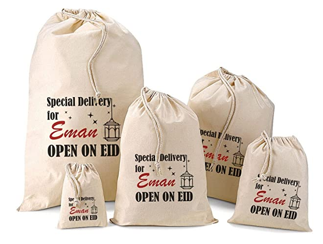 4d16ebea3f8 Personalised Eid Gift Bags - Various Sizes Available: Amazon.co.uk ...