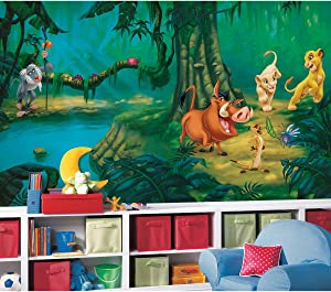 RoomMates Lion King Chair Rail Removable Wall Mural - 10.5 feet X 6 feet