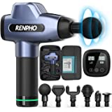RENPHO Massage Gun Deep Tissue, Muscle Massagers, Powerful Handheld Quiet Percussion Massager with 20 Speed Levels 6…