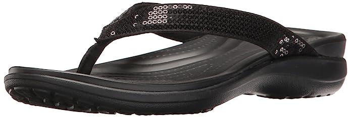 97b3ebbe1 Amazon.com  Crocs Women s Capri V Sequin Flip Flop