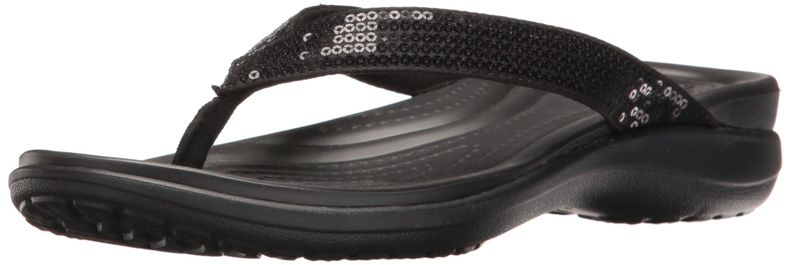 eb2e19a91f92 Galleon - Crocs Women s Capri V Sequin W Flip Flop