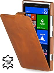 StilGut Ultraslim, housse exclusive de cuir véritable pour le Nokia Lumia 920, cognac