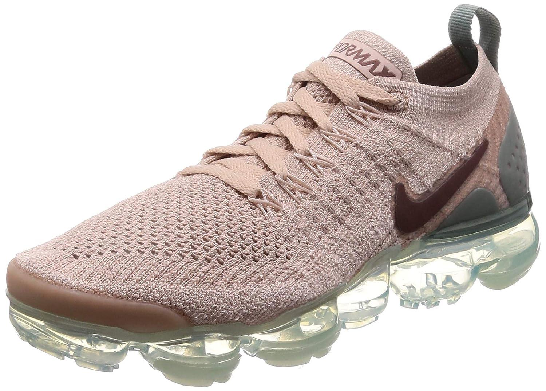 size 40 daba1 2b88c Nike Women's Air Vapormax Flyknit 2 Running Shoes (8, Beige/Green)