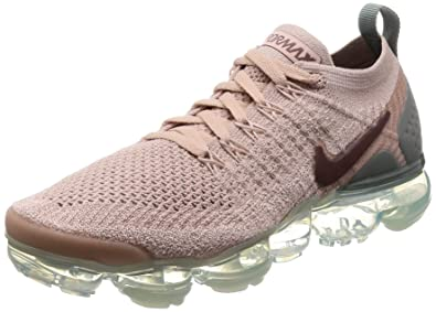 buy online 31034 f7b91 Nike Women's Air Vapormax Flyknit 2 Running Shoes (6, Beige/Green)