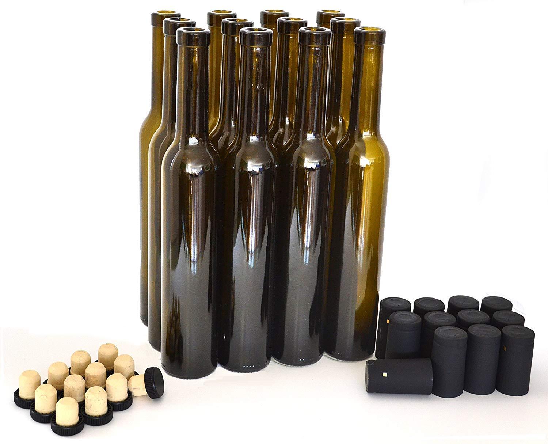 Bellissima Bottles, 375ml, Antique Green - Case of 12 by nicebottles