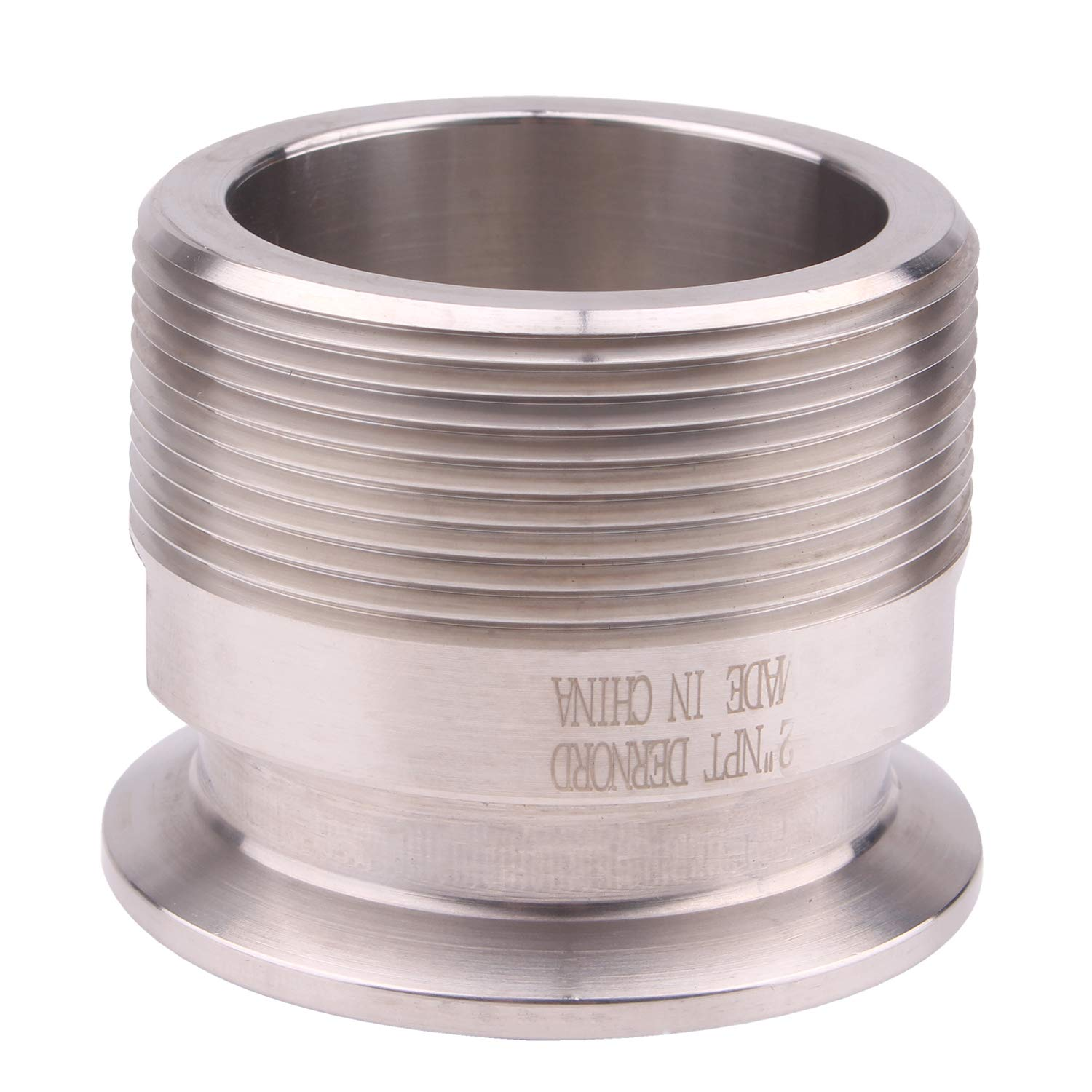 DERNORD 2'' Tri clamp Adapter to 2 inch MNPT Thread Ferrule Sanitary Pipe Fitting by DERNORD