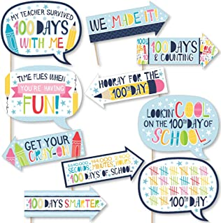 product image for Big Dot of Happiness Funny Happy 100th Day of School - 100 Days Party Photo Booth Props Kit - 10 Piece