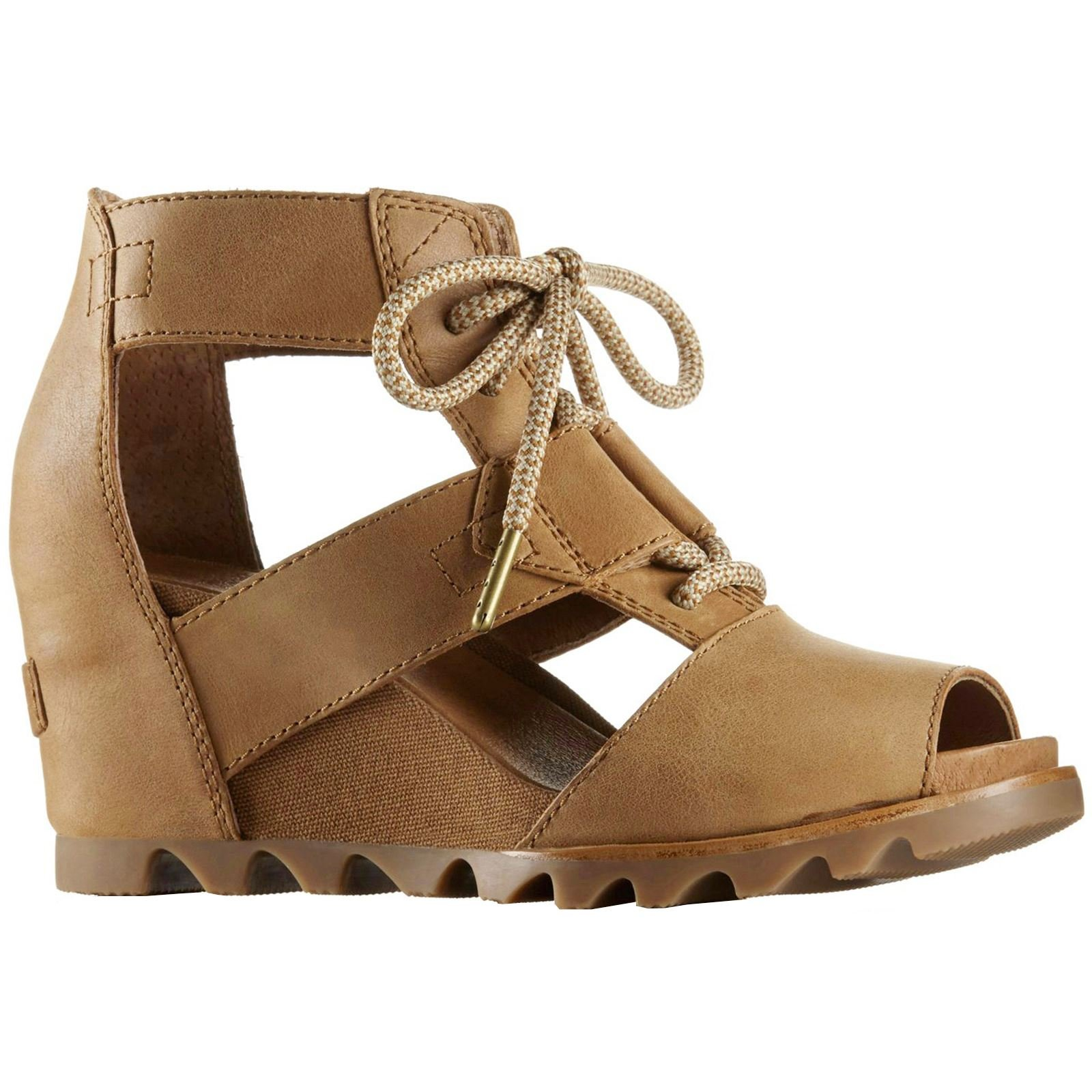 SOREL Women's Joanie Lace Sandals, Camel Brown, 9 B(M) US