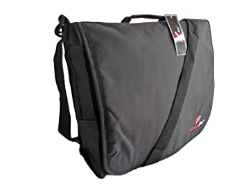 Roamlite Dispatch Courier Bags - Cross Body DJ Deejay Style Black Record  Bag - Urban Messenger Side Shoulder Bag for Work - Excellent A4 Folder or