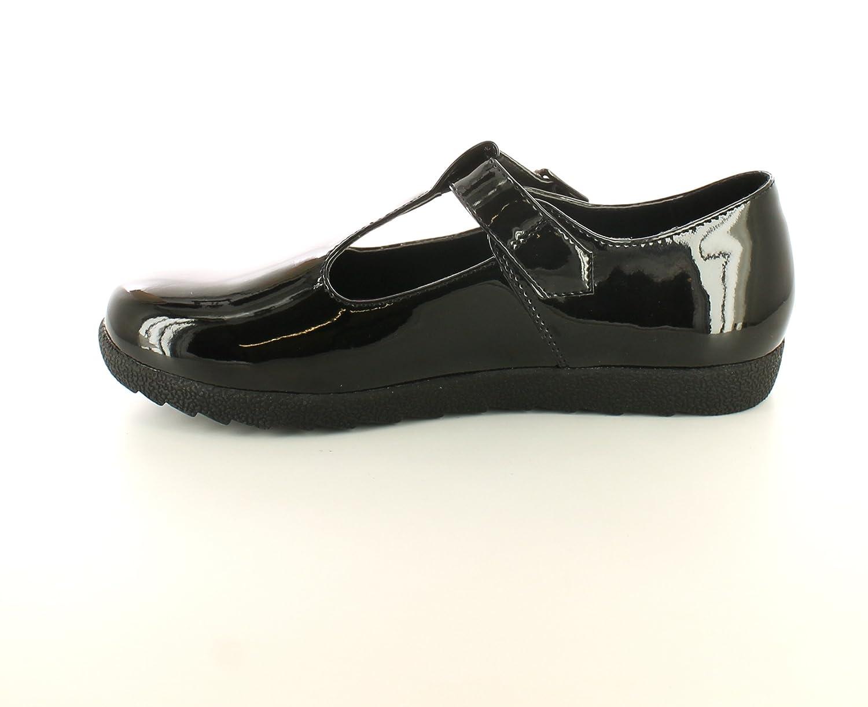 Nuevo Niña/Infantil Charol Negro Cierre de Hebilla Zapatos de Colegio - Charol Negro - GB Tallas 12-5 - Schwarz Lackleder, 34, Negro Charol: Amazon.es: ...