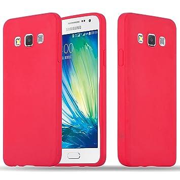 Cadorabo Funda para Samsung Galaxy A3 2015 en Candy Rojo – Cubierta Proteccíon de Silicona TPU Delgada e Flexible con Antichoque – Gel Case Cover ...
