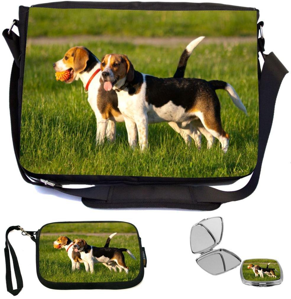 0109a60edde5 Rikki Knight Happy Beagle Dogs in Park Design COMBO Multifunction ...
