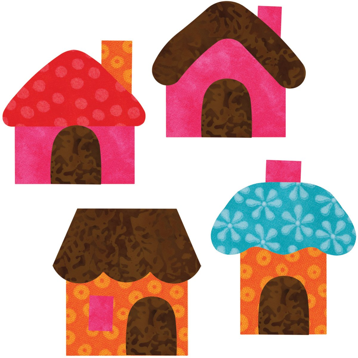 Go! This & That Fabric Cutting Dies-Small Houses 2-1/2x3by Reiko Kato