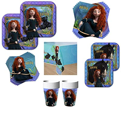Disney Pixar Brave Birthday Party Bundle - Serves 16 Guests - Kit Includes Plates, Napkins, Cups, Table Cover: Health & Personal Care