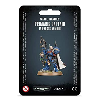 Games Workshop Warhammer 40,000 40k Space Marines Primaris Captain in Phobos Armour: Toys & Games