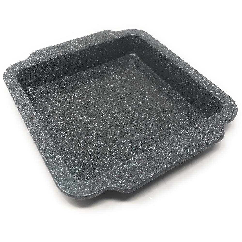 LS Kitchen Marble Collection Roasting Baking Tin Tray Roasting Pan Stone Effect Non Stick Roasting Oven Baking Tin Tray Carbon Steel