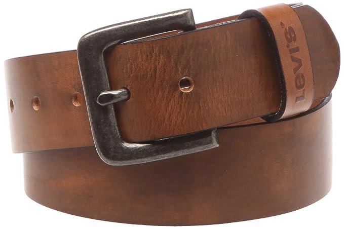 Levi s Unisex Stinson Belt, Beige (Medium Brown), 80 cm (Manufacturer size 4437b493b2e