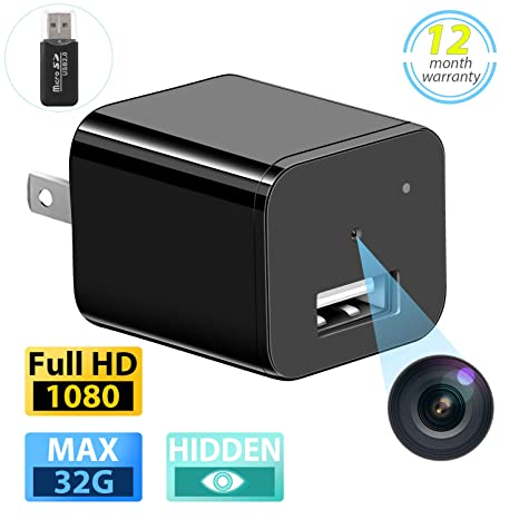 Amazon.com: Cámara oculta espía Full HD 1080P Mini Nanny Cam ...