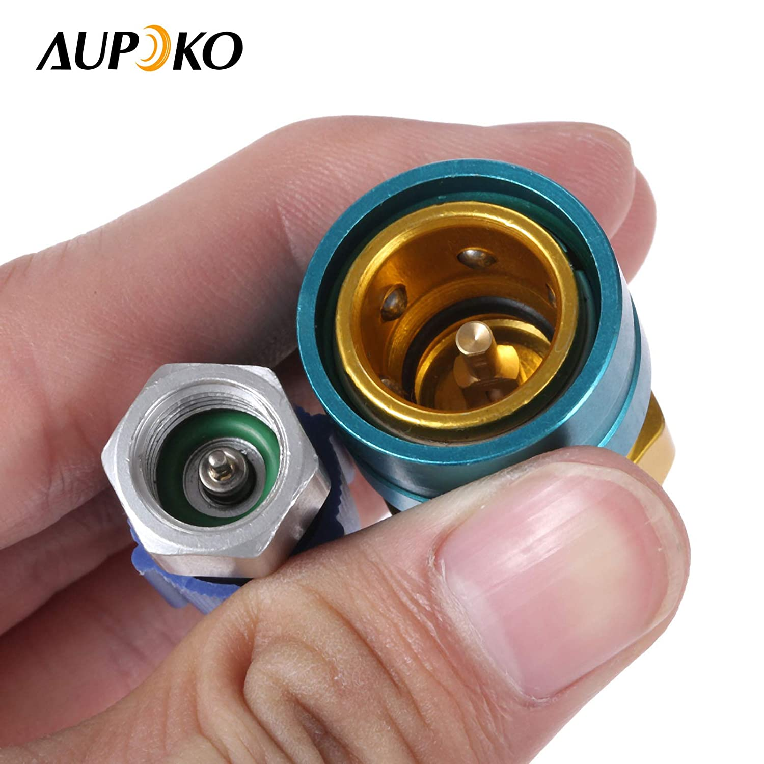 R1234YF to R134A Low Side Quick Coupler R12 to R134A Hose Adapter Fitting Connector for Car Air-Conditioning AC Charging