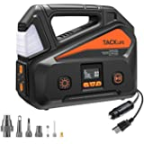 TACKLIFE A6 Plus AC/DC Tire Inflator, Portable Air Compressor with LCD Digital Pressure Gauge up to 150 PSI for Home 110V AC