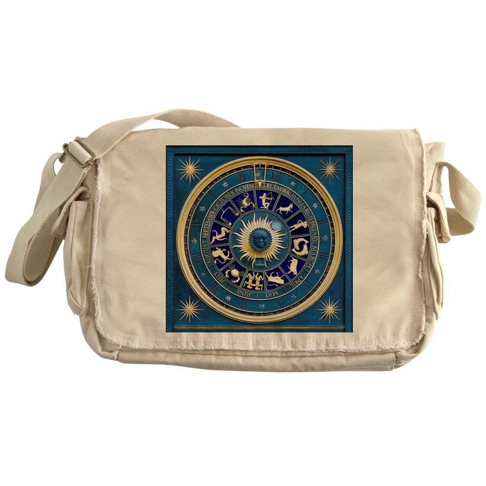Royal Lion Khaki Messenger Bag Blue Marble Zodiac Horoscope Signs