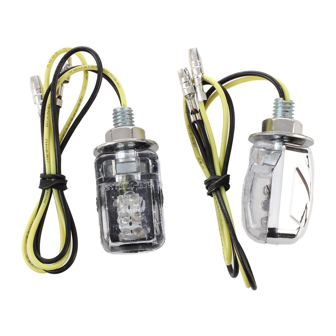 SODIAL(R) 2 Motorcycle Motorbike Amber LED Turn Signal Light Bulb Indicator 12V