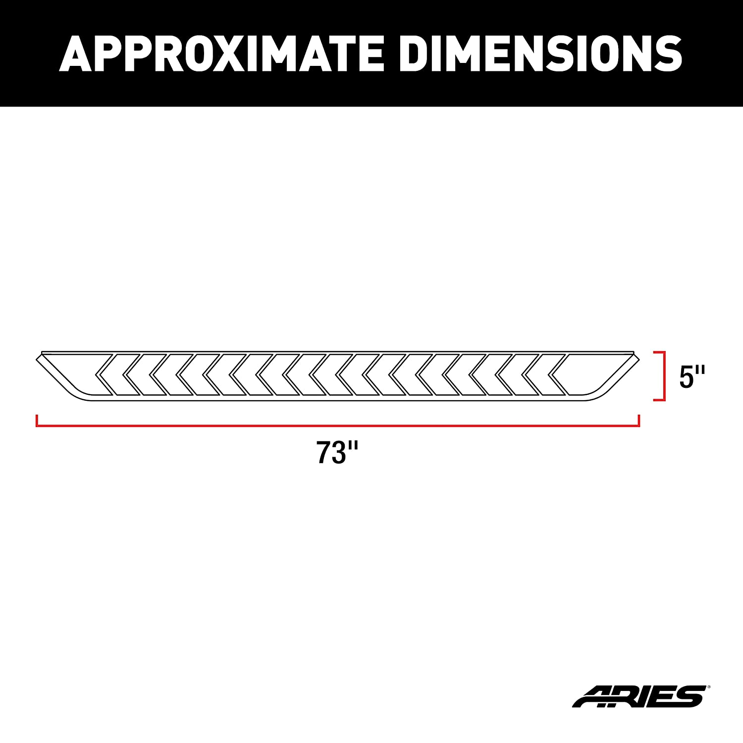 ARIES 2061031 AeroTread 73-Inch Black Stainless Steel SUV Running Boards Select Dodge Durango