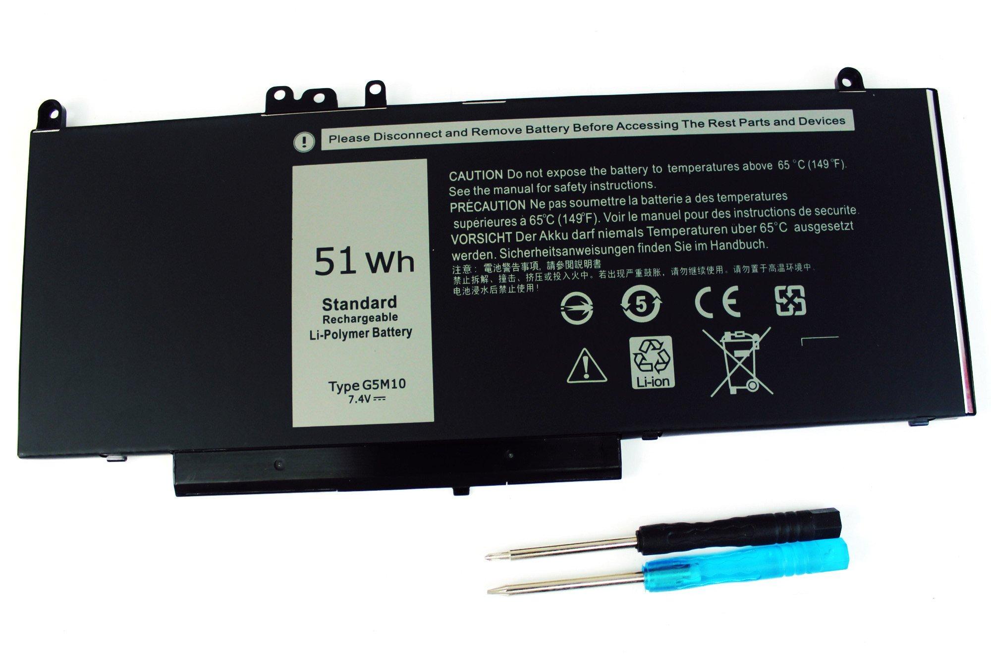 Bateria G5M10 para Dell Latitude E5450 Latitude E5470 Latitude E5550 Latitude E5570 Series P/N 6MT4T R9XM R9XM9 8V5GX 08