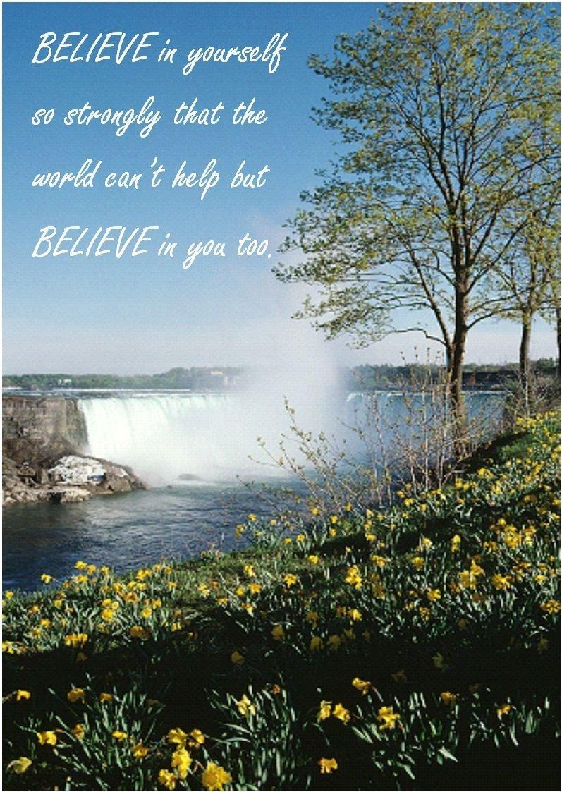 Believe in Yourself – a4 Inspirationalラミネートフォトポスター B072QZ672M