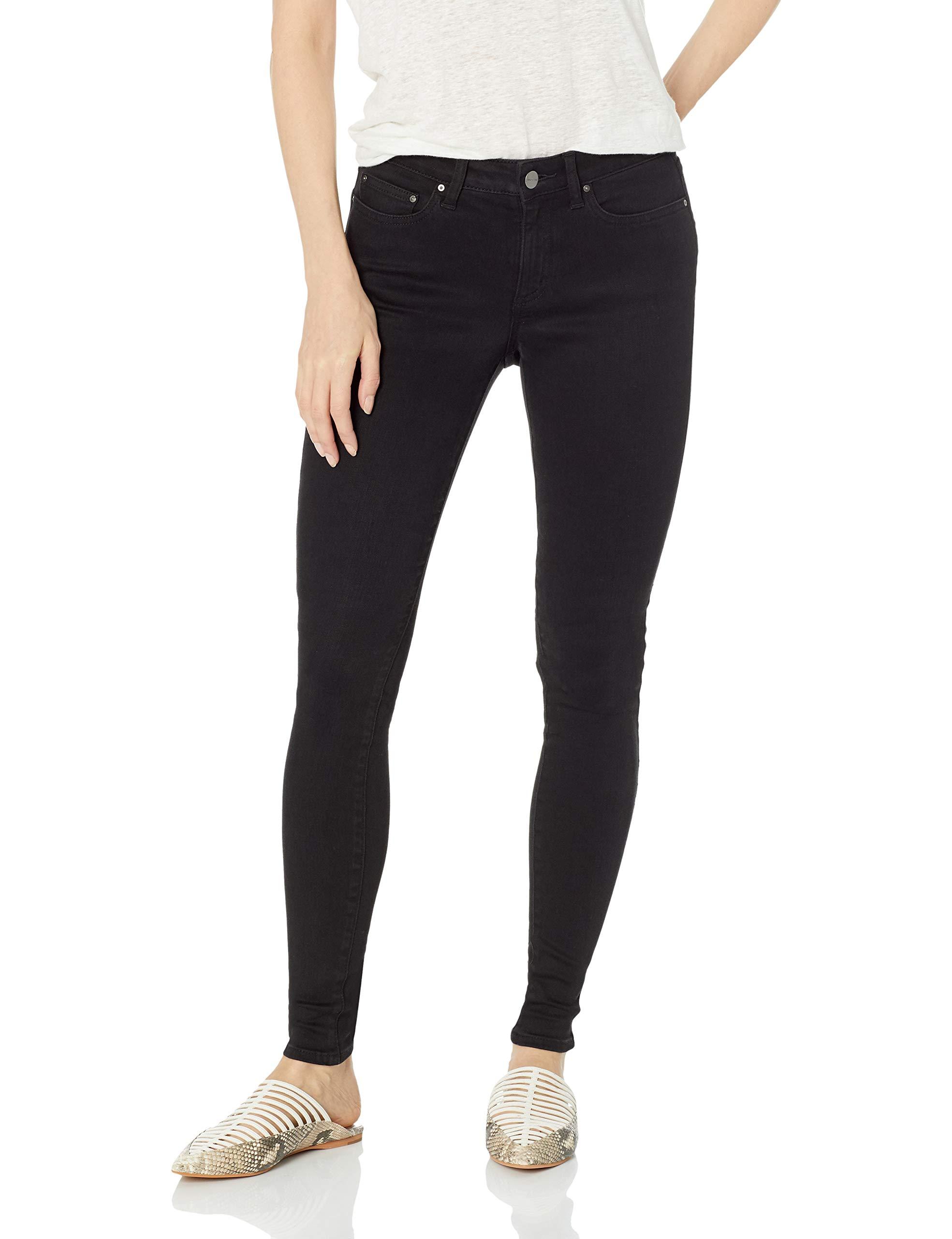 Amazon Brand - Daily Ritual Women's Mid-Rise Skinny Jean, Black, 29 (8) Regular by Daily Ritual