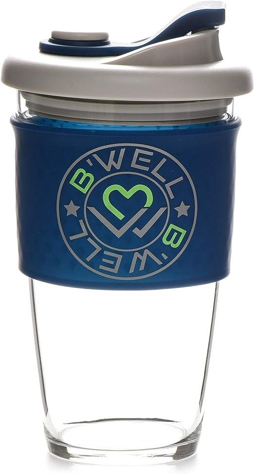 Amazon.com: BWell, tazas de cristal – Taza de viaje para ...