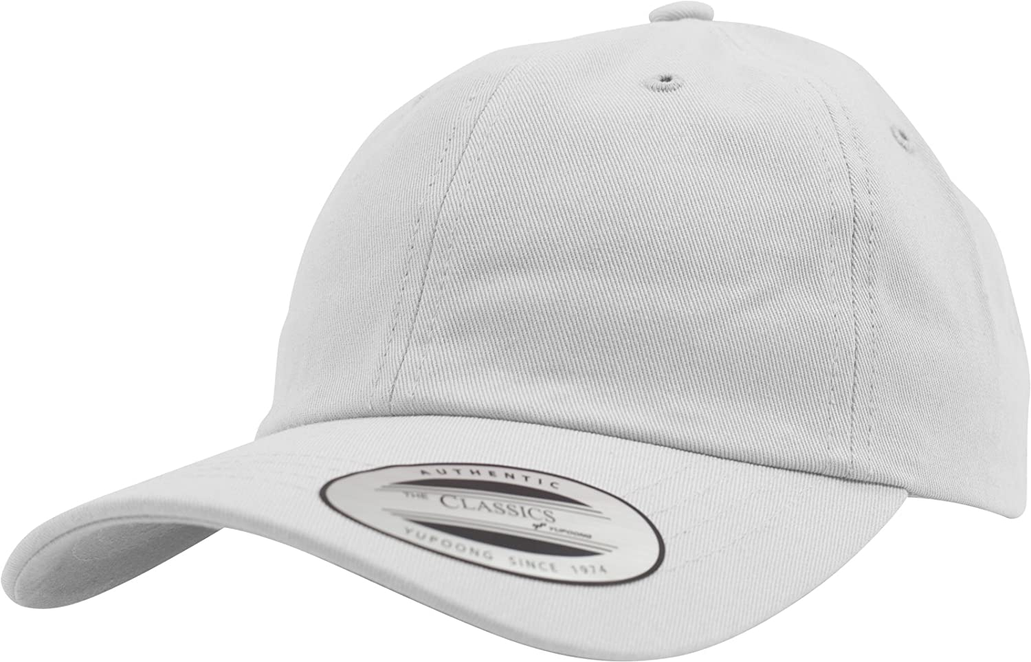 a239d5ed239 Flexfit Yupoong KIDS Low Profile Cotton Twill Strapback Dad Cap Adjustable  White  Amazon.ca  Clothing   Accessories