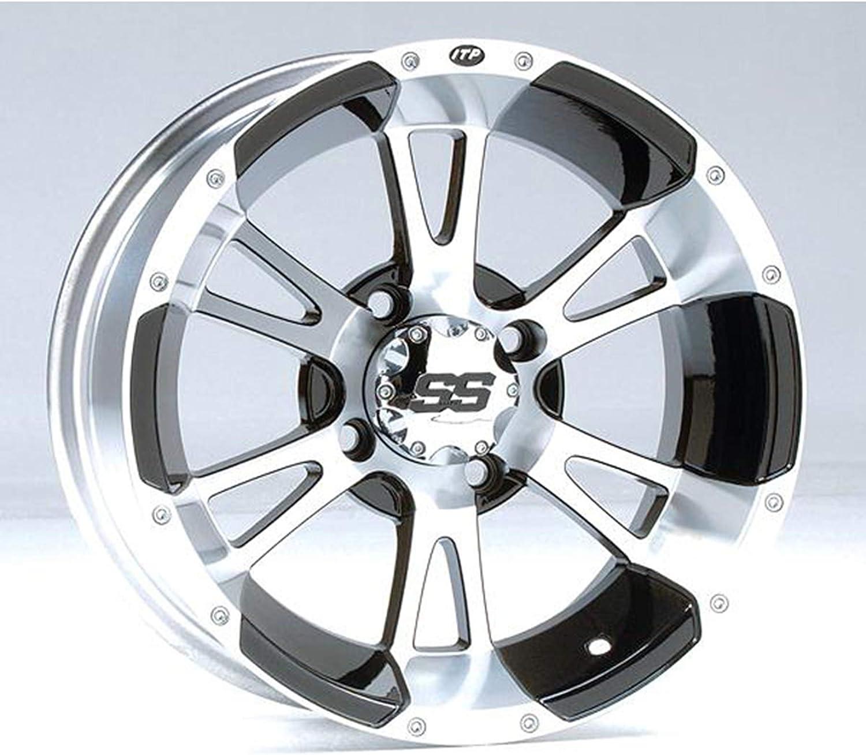 ITP SS212 Wheel 14x6 4+2 4//110 ALU BLK for Honda Kawasaki Suzuki Yamaha