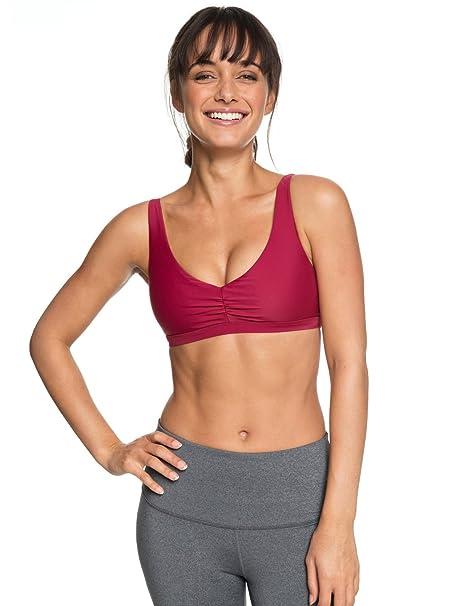 Roxy - Sujetador Deportivo - Mujer - XS - Rojo: Amazon.es ...