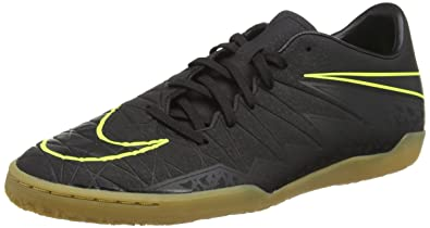 54b052b2c1f7 Nike Mens Hypervenom Phelon II IC Black Black Volt Size 6.5