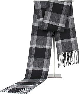 ANAZOZ Cachemira Bufanda para Hombre Niño Enrejado Calentador de Cuello 180cm Otoño Invierno Bufanda de Clima Frío, QA149 Q96 ANAZOZ-Q30A889