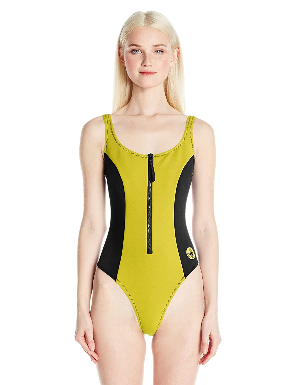 Body Glove Womens Time Zip Front One Piece Swimsuit
