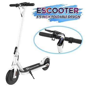 COLORWAY Patinete Eléctrico -8.5 Pulgadas Scooter Eléctrico Plegable Batería 7.5Ah con Faro y Luz de Freno Ideal para Desplazamientos Urbanos