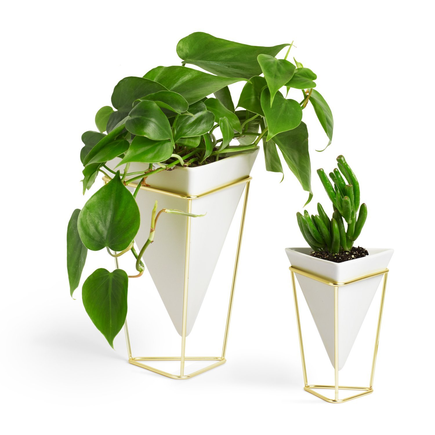 Unique Triangular Flower Vase Set