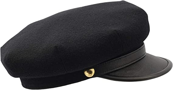 New Mens Casual Bussiness Genuine Leather Military Big Lip Cap School Caps Hats
