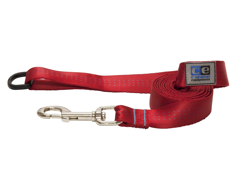 Red 1  WidthCanine Equipment Technika Dog Traffic Leash 3 4Inch by 6Feet, Raspberry